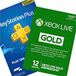 Playstation and Xbox live membership cards