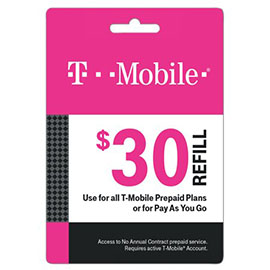 $30 T-Mobile Prepaid Refill Card