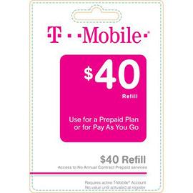 $40 T-Mobile Prepaid Refill Card