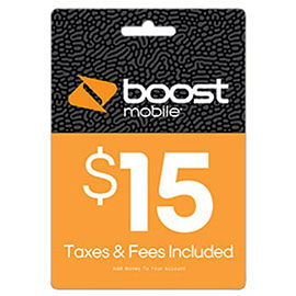 $15 Boost Mobile Re-Boost Card