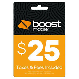 $25 Boost Mobile Re-Boost Card
