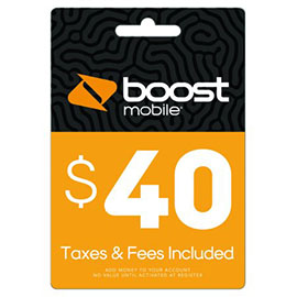 $40 Boost Mobile Re-Boost Card