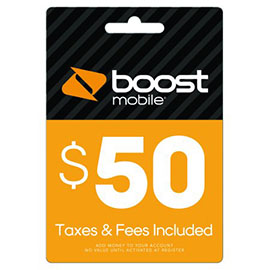 $50 Boost Mobile Re-Boost Card