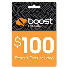 $100 Boost Mobile Re-Boost Card