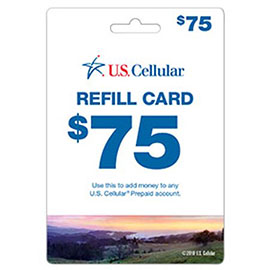 US Cellular $75 Prepaid Card