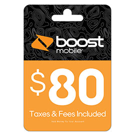 $80 Boost Mobile Re-Boost Card