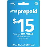 $15 AT&T PREPAID Refill Card