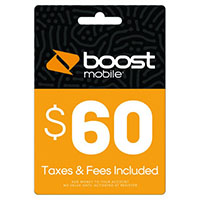 $60 Boost Mobile Re-Boost Card