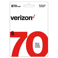 Verizon $70 Prepaid Refill Card